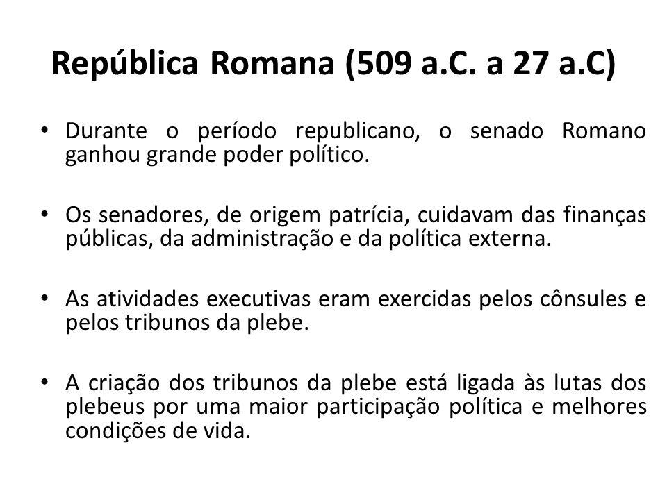República Romana (509 a.C. a 27 a.C)