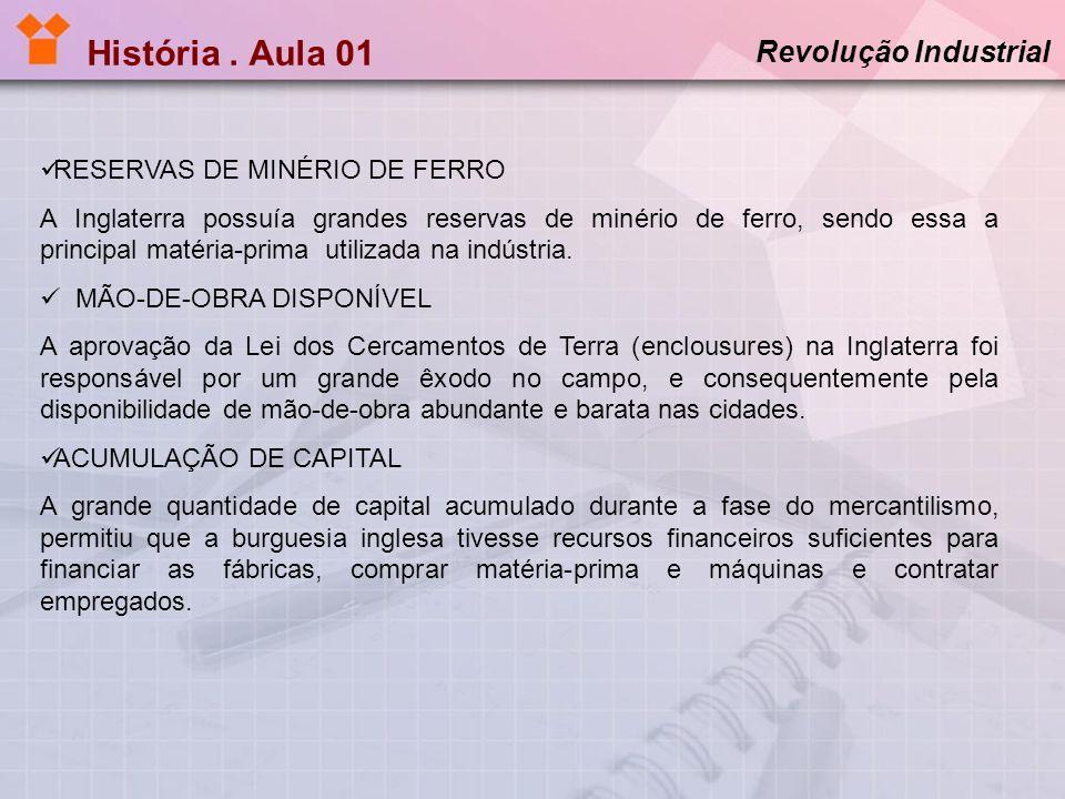 História . Aula 01 Revolução Industrial RESERVAS DE MINÉRIO DE FERRO