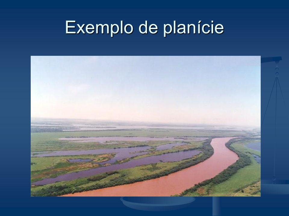 Exemplo de planície