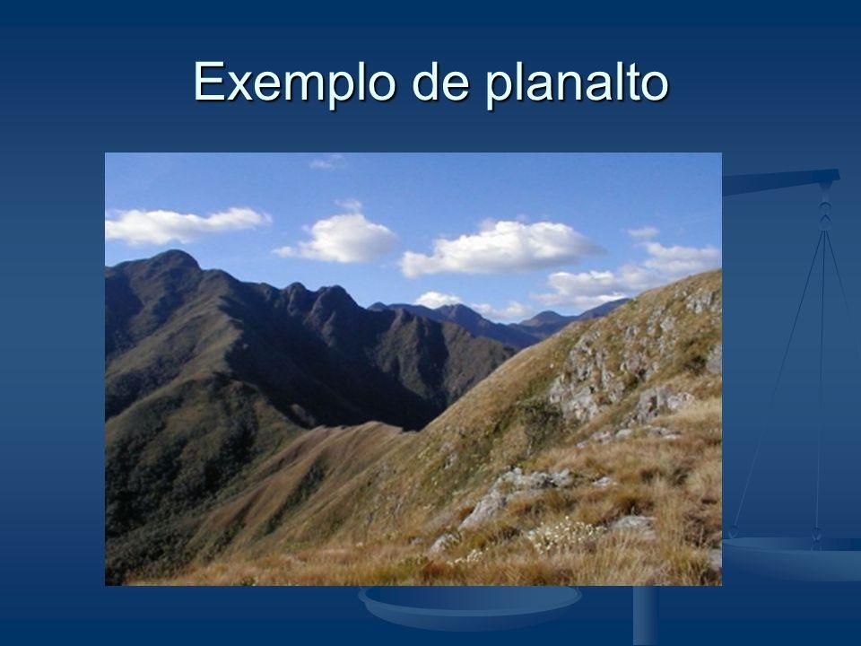 Exemplo de planalto