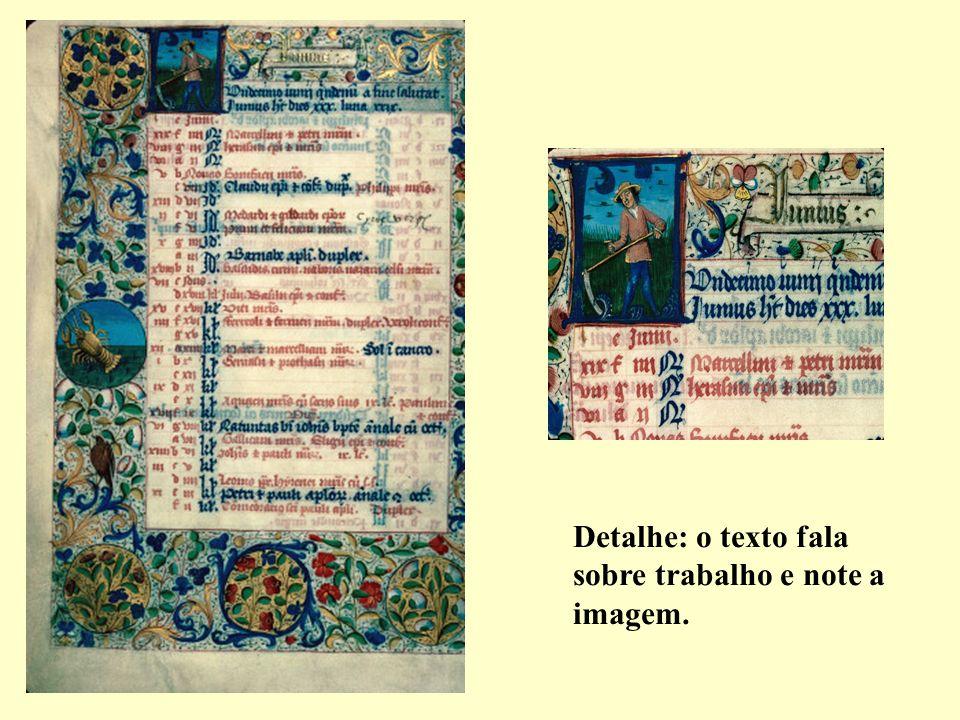 Detalhe: o texto fala sobre trabalho e note a imagem.