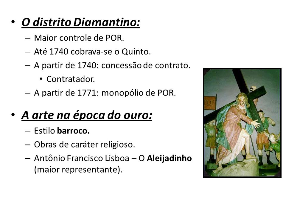 O distrito Diamantino: