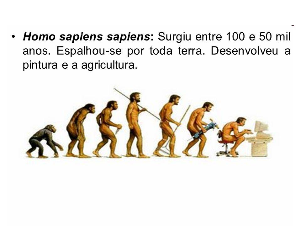 Homo sapiens sapiens: Surgiu entre 100 e 50 mil anos