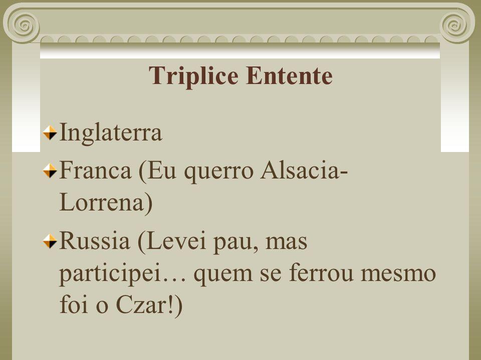 Triplice Entente Inglaterra.