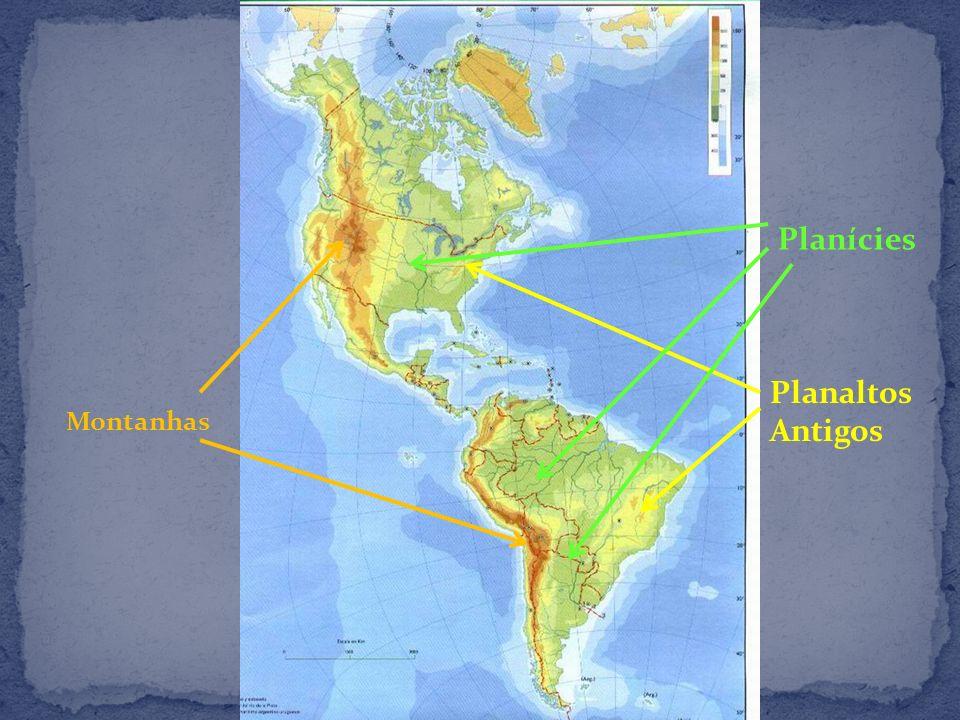 Planícies Planaltos Antigos Montanhas
