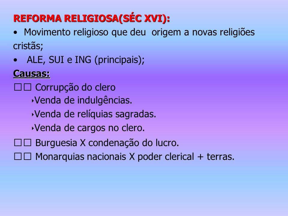 REFORMA RELIGIOSA(SÉC XVI):