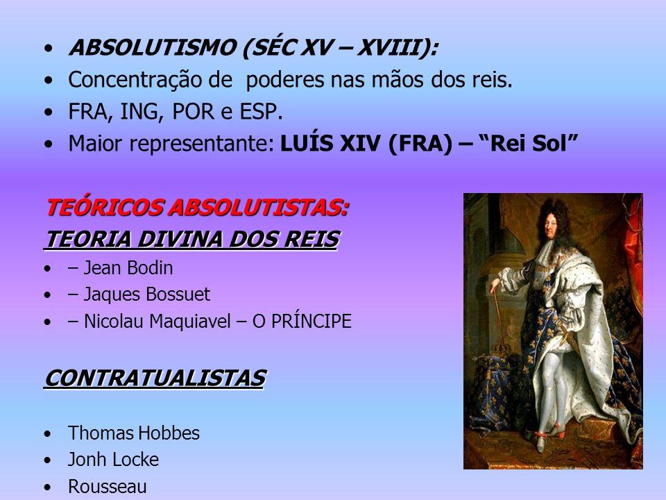 ABSOLUTISMO (SÉC XV – XVIII):