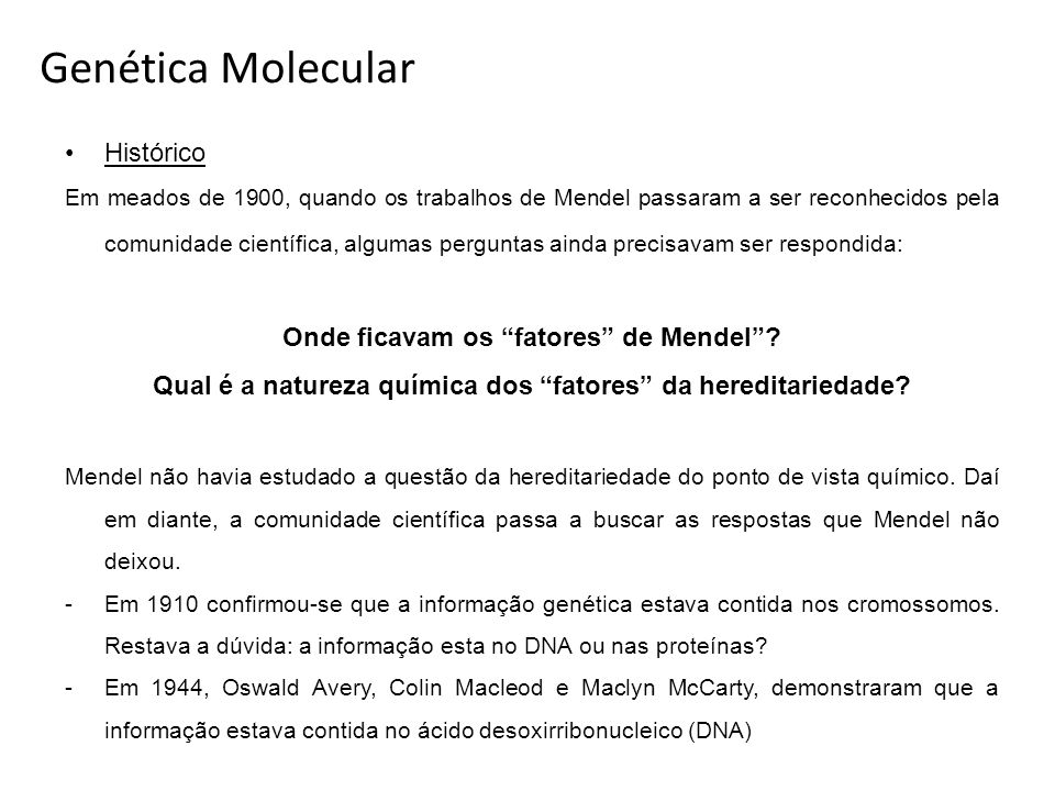 Qual é a natureza química dos fatores da hereditariedade