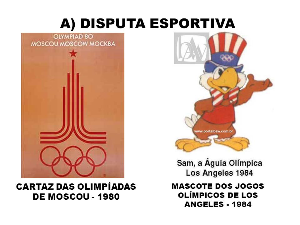 A) DISPUTA ESPORTIVA CARTAZ DAS OLIMPÍADAS DE MOSCOU - 1980
