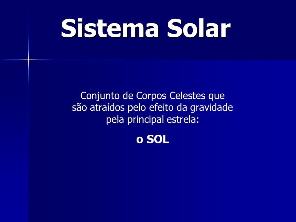 Sistema Solar Conjunto de Corpos Celestes que são atraídos pelo efeito da gravidade pela principal estrela: