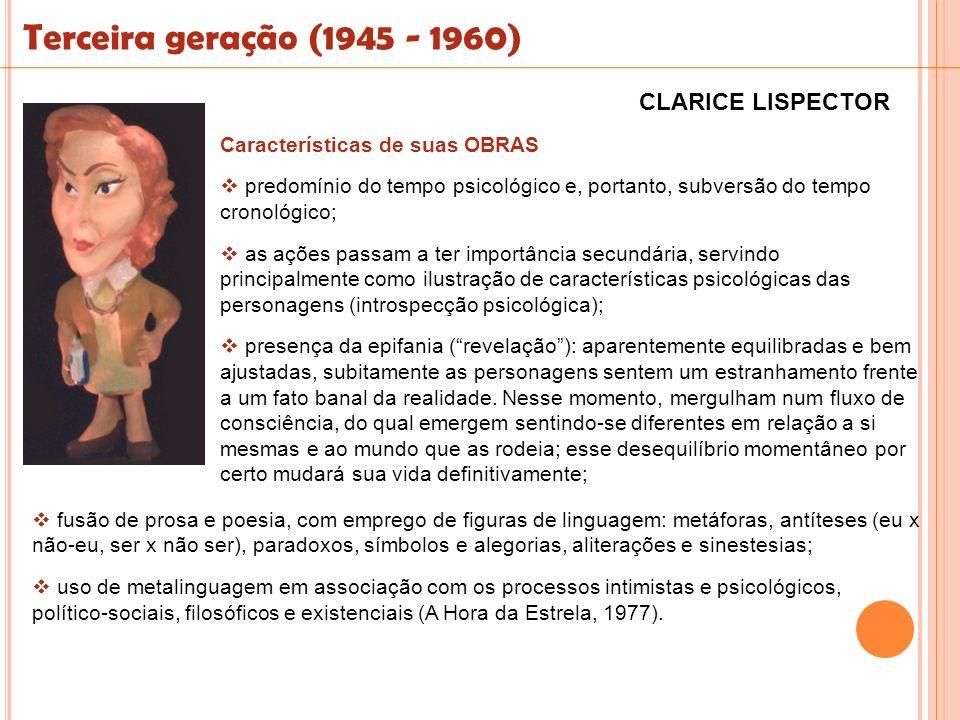 Terceira geração (1945 - 1960) CLARICE LISPECTOR