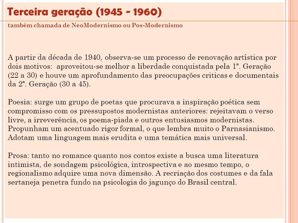 Terceira geração (1945 - 1960)