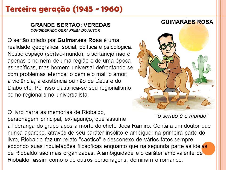 Terceira geração (1945 - 1960) GUIMARÃES ROSA GRANDE SERTÃO: VEREDAS