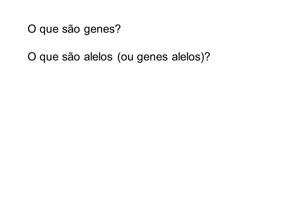 O que são genes O que são alelos (ou genes alelos)