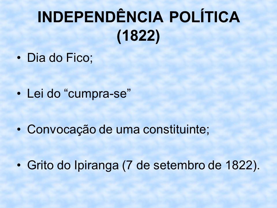 INDEPENDÊNCIA POLÍTICA (1822)