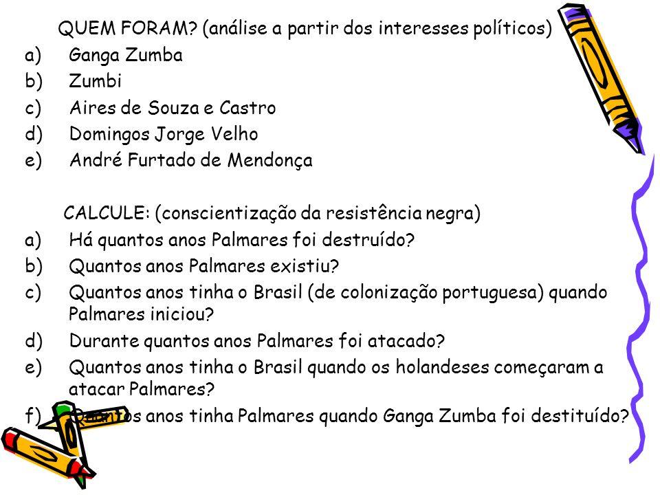 QUEM FORAM (análise a partir dos interesses políticos)