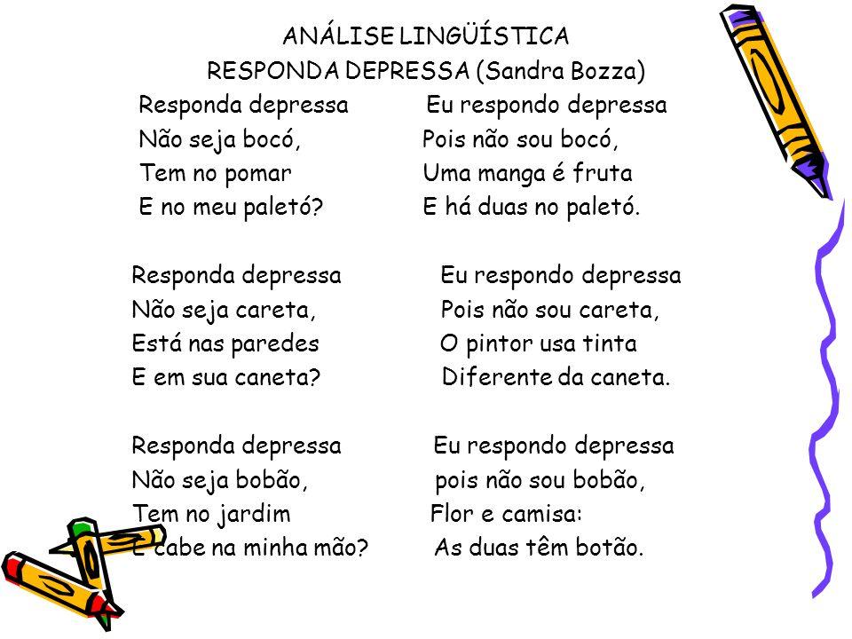RESPONDA DEPRESSA (Sandra Bozza)