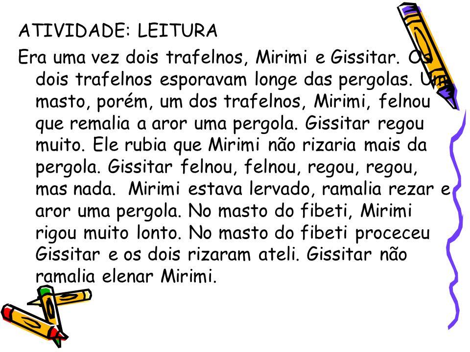 ATIVIDADE: LEITURA