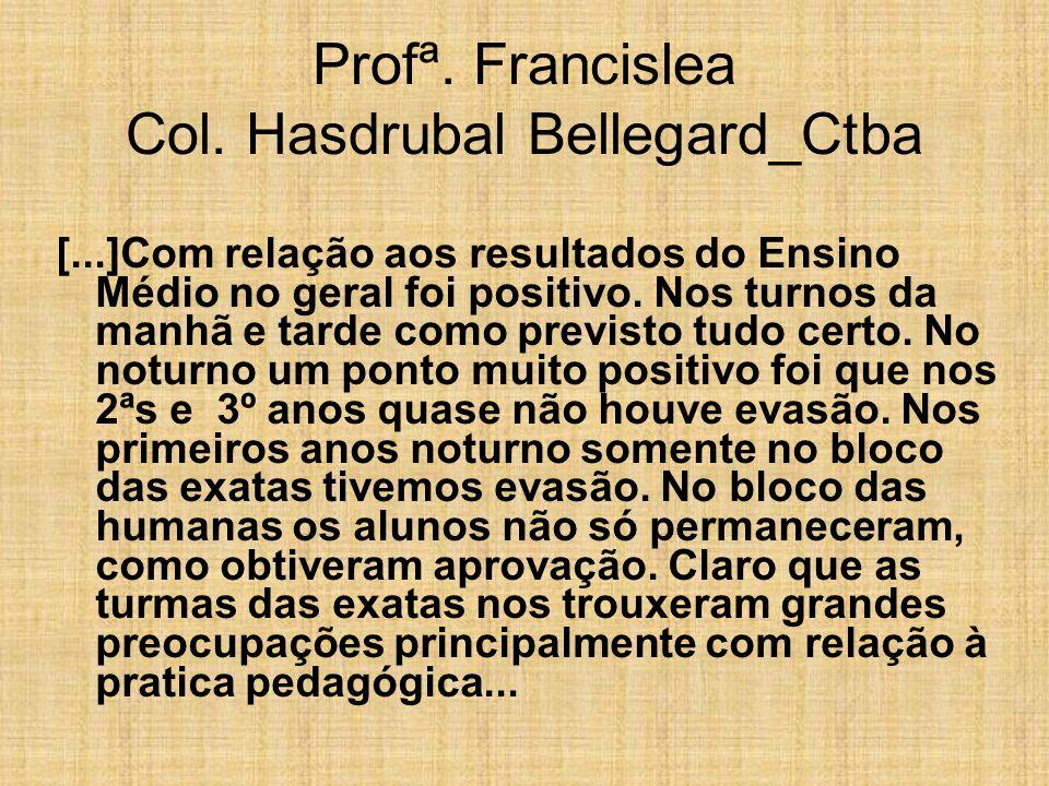 Profª. Francislea Col. Hasdrubal Bellegard_Ctba