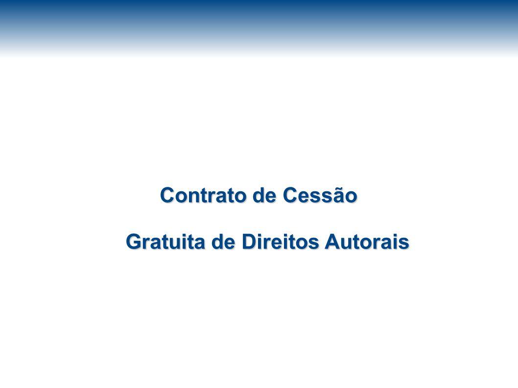 Contrato de Cessão Gratuita de Direitos Autorais