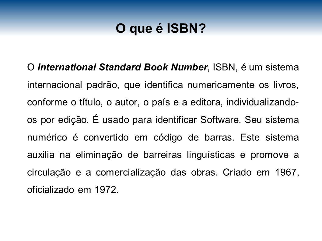 O que é ISBN