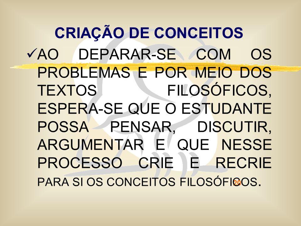CRIAÇÃO DE CONCEITOS