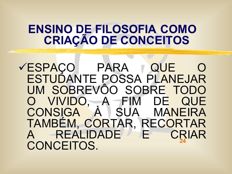 ENSINO DE FILOSOFIA COMO CRIAÇÃO DE CONCEITOS