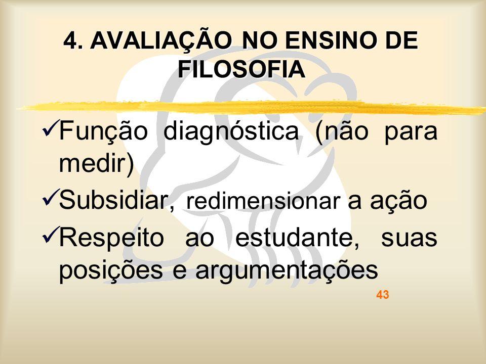 4. AVALIAÇÃO NO ENSINO DE FILOSOFIA