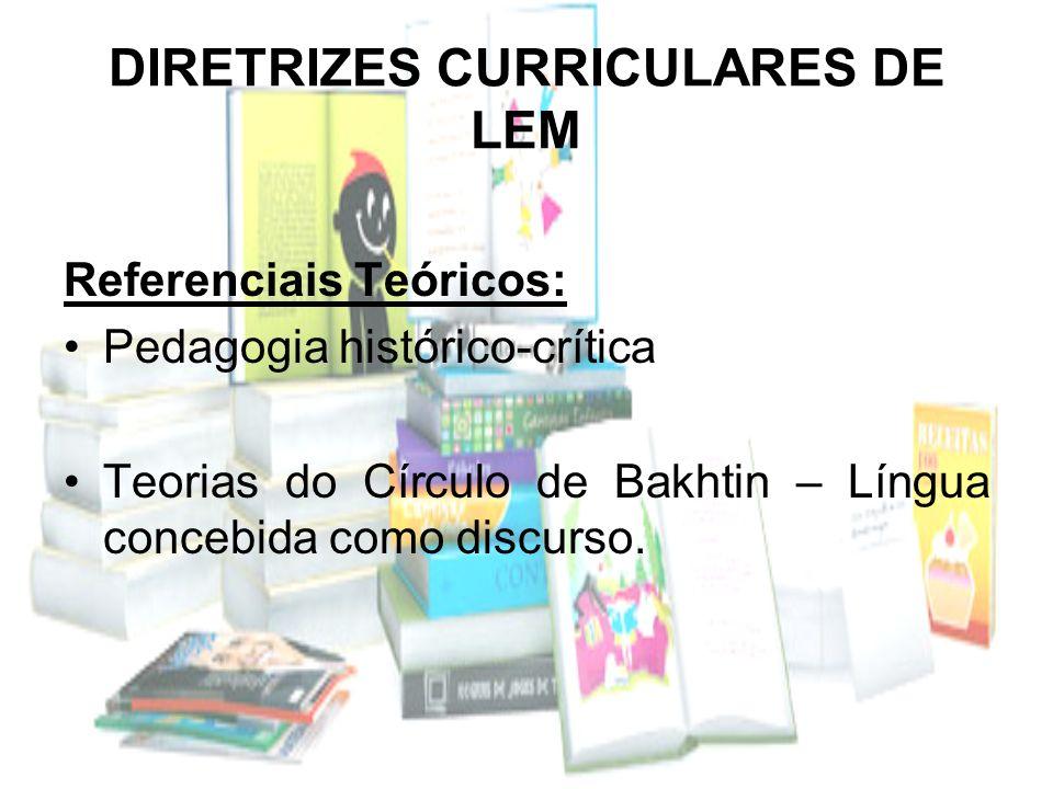 DIRETRIZES CURRICULARES DE LEM