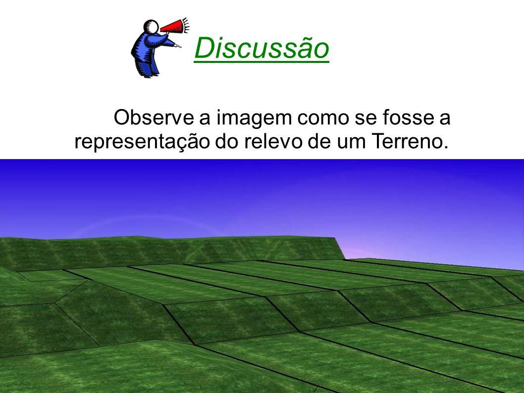 Discussão Observe a imagem como se fosse a representação do relevo de um Terreno. 53 53
