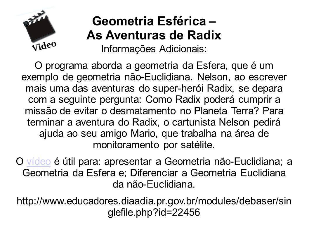Geometria Esférica – As Aventuras de Radix