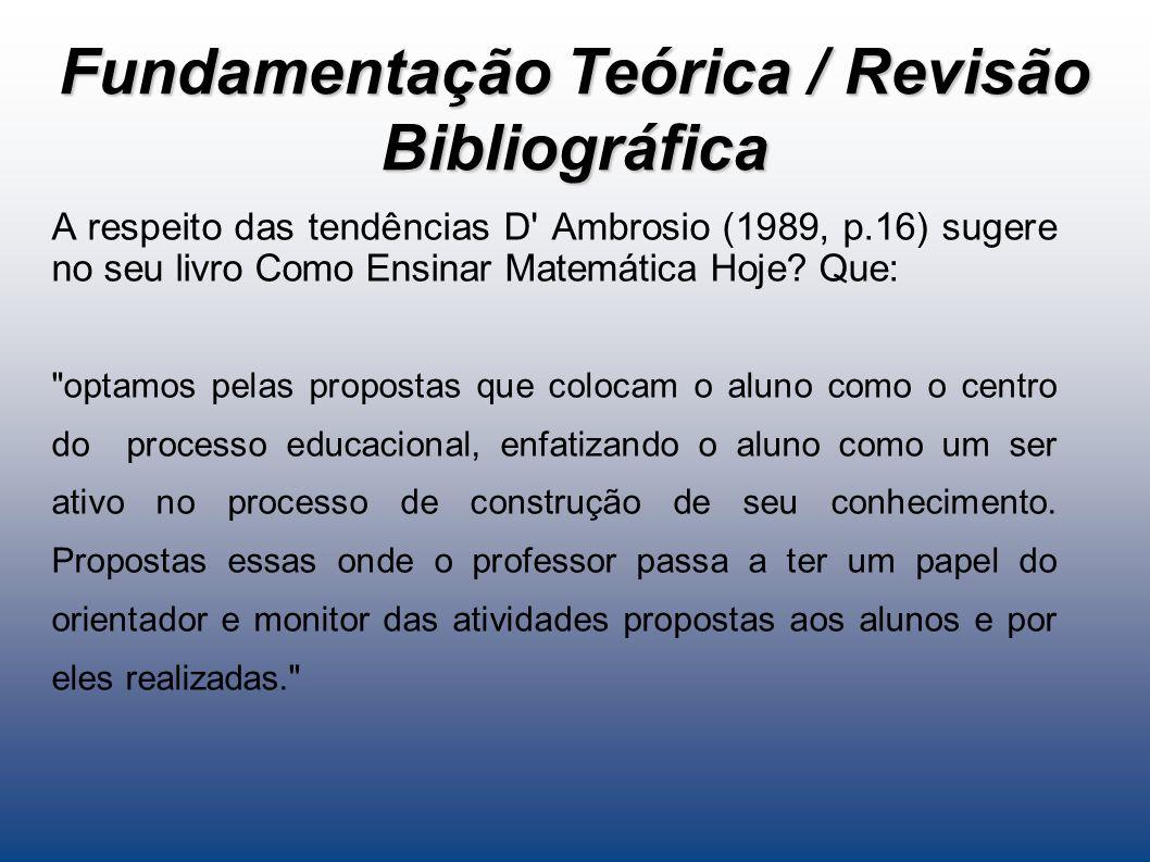 Fundamentação Teórica / Revisão Bibliográfica