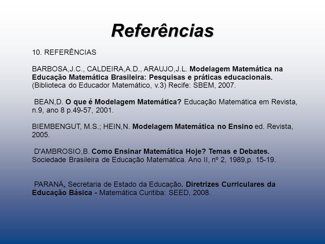 Referências 10. REFERÊNCIAS