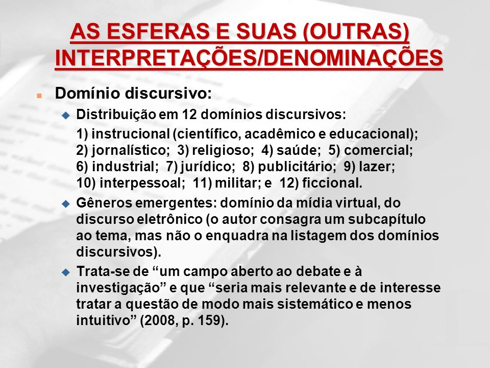 AS ESFERAS E SUAS (OUTRAS) INTERPRETAÇÕES/DENOMINAÇÕES