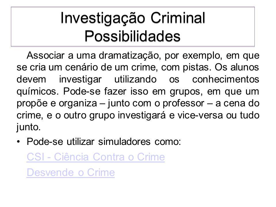 Investigação Criminal Possibilidades