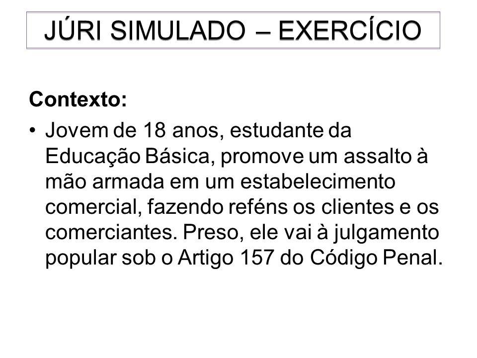 JÚRI SIMULADO – EXERCÍCIO