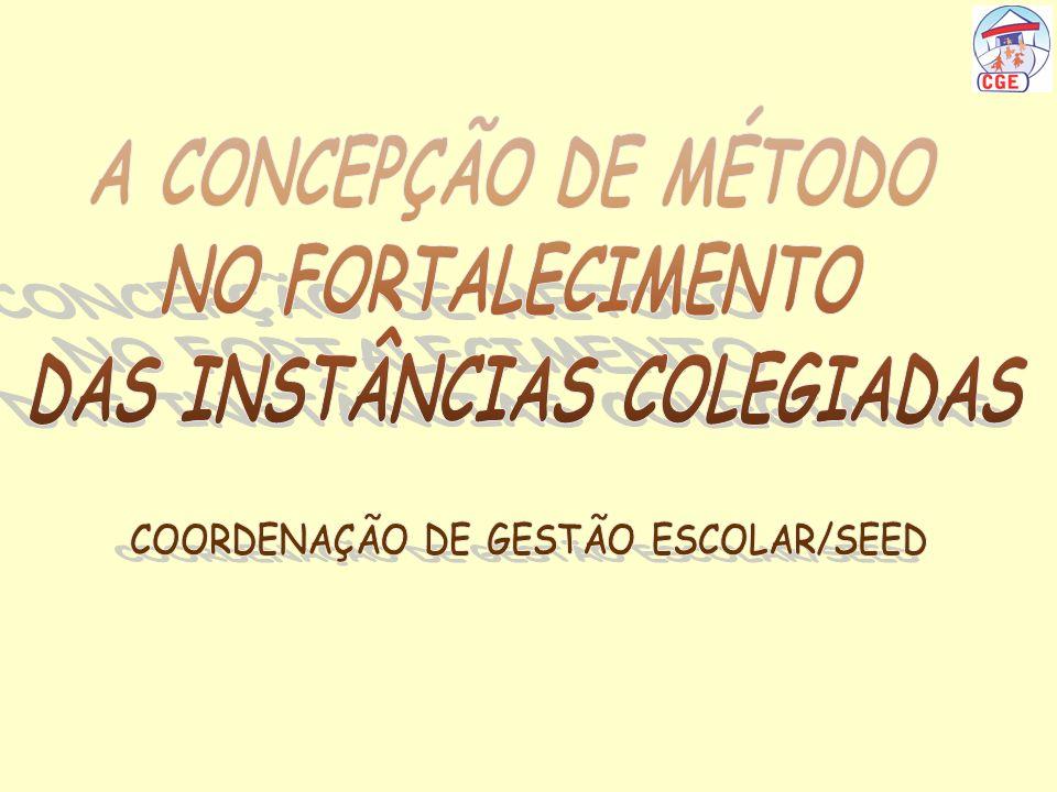 DAS INSTÂNCIAS COLEGIADAS COORDENAÇÃO DE GESTÃO ESCOLAR/SEED