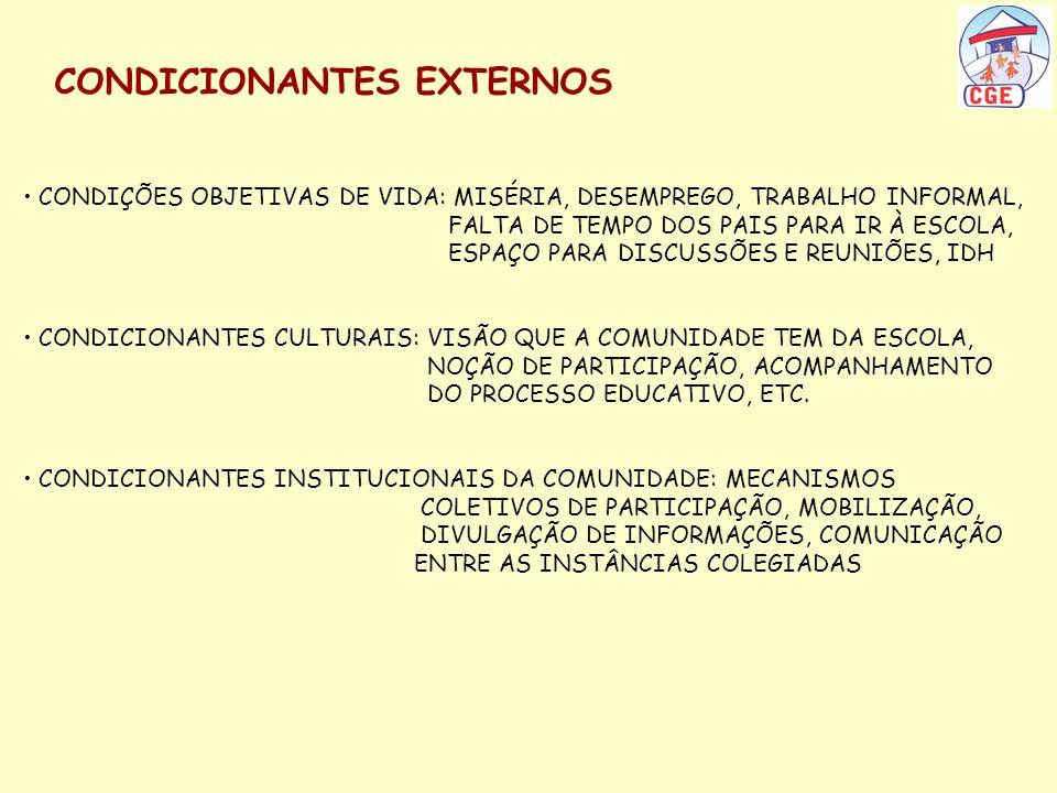 CONDICIONANTES EXTERNOS