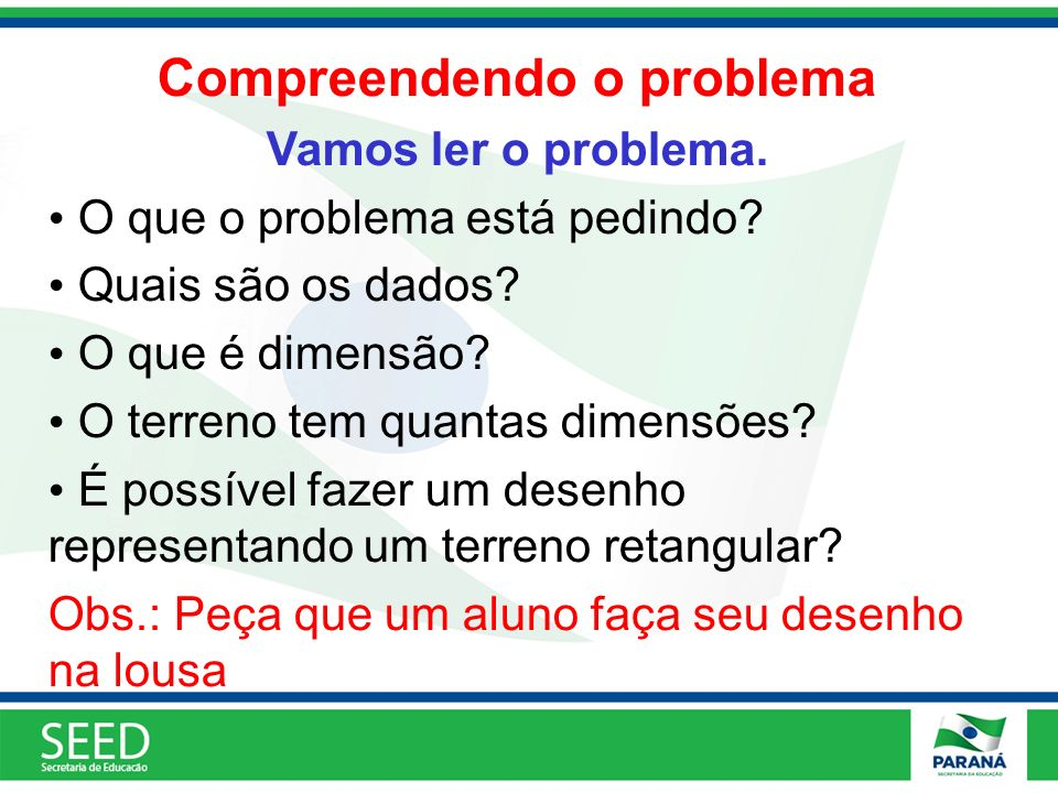 Compreendendo o problema
