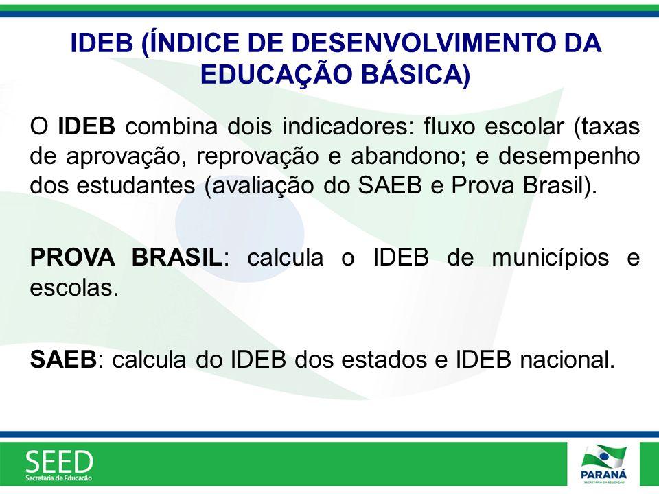 IDEB (ÍNDICE DE DESENVOLVIMENTO DA EDUCAÇÃO BÁSICA)