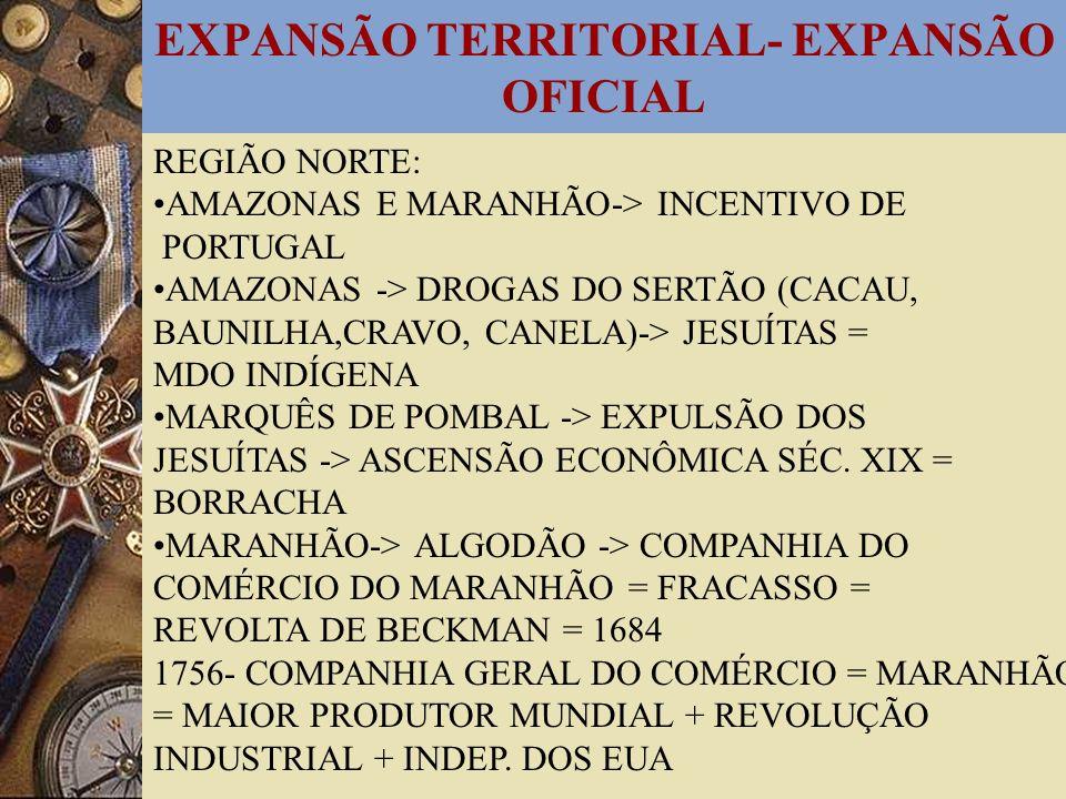 EXPANSÃO TERRITORIAL- EXPANSÃO OFICIAL
