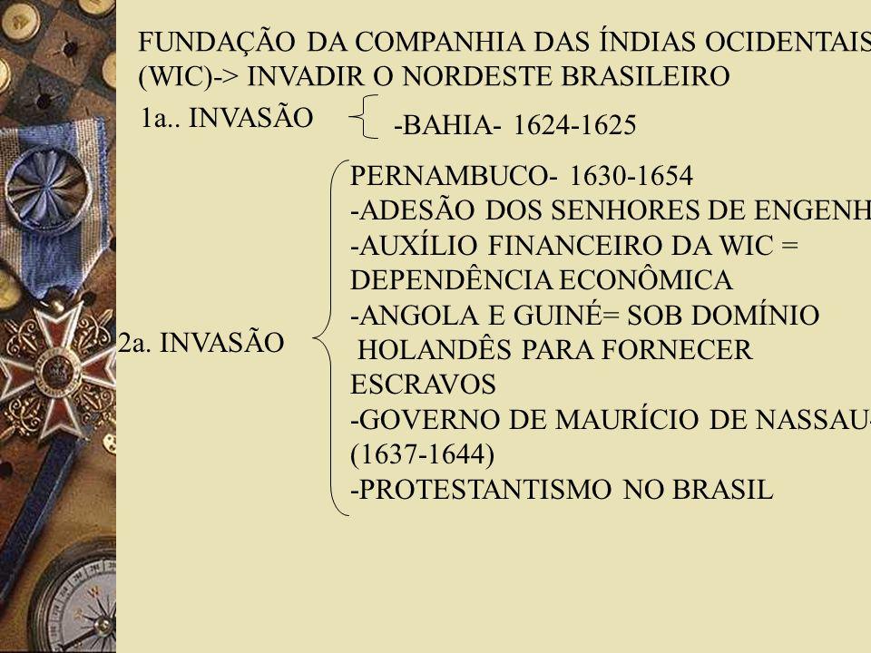 FUNDAÇÃO DA COMPANHIA DAS ÍNDIAS OCIDENTAIS