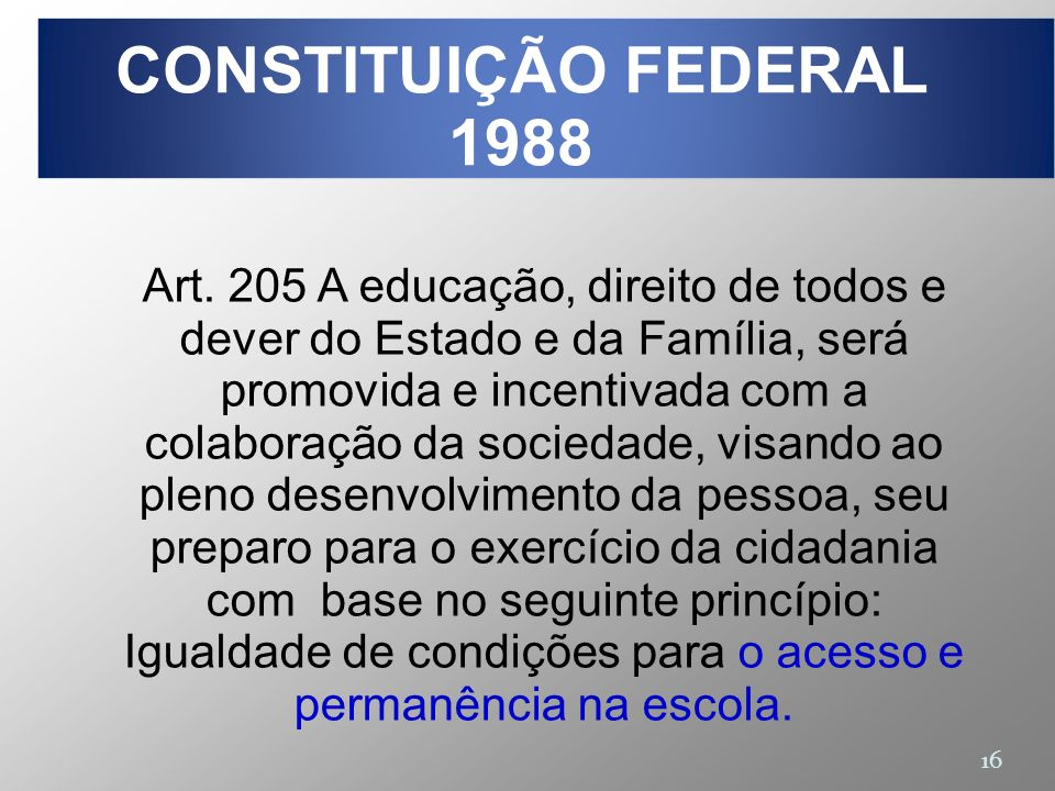CONSTITUIÇÃO FEDERAL 1988