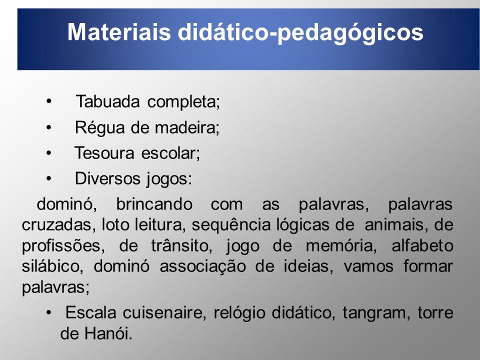 Materiais didático-pedagógicos