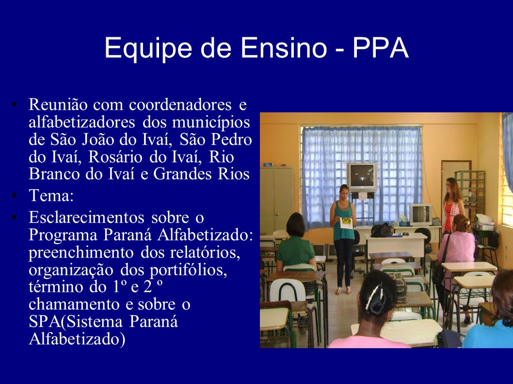 Equipe de Ensino - PPA
