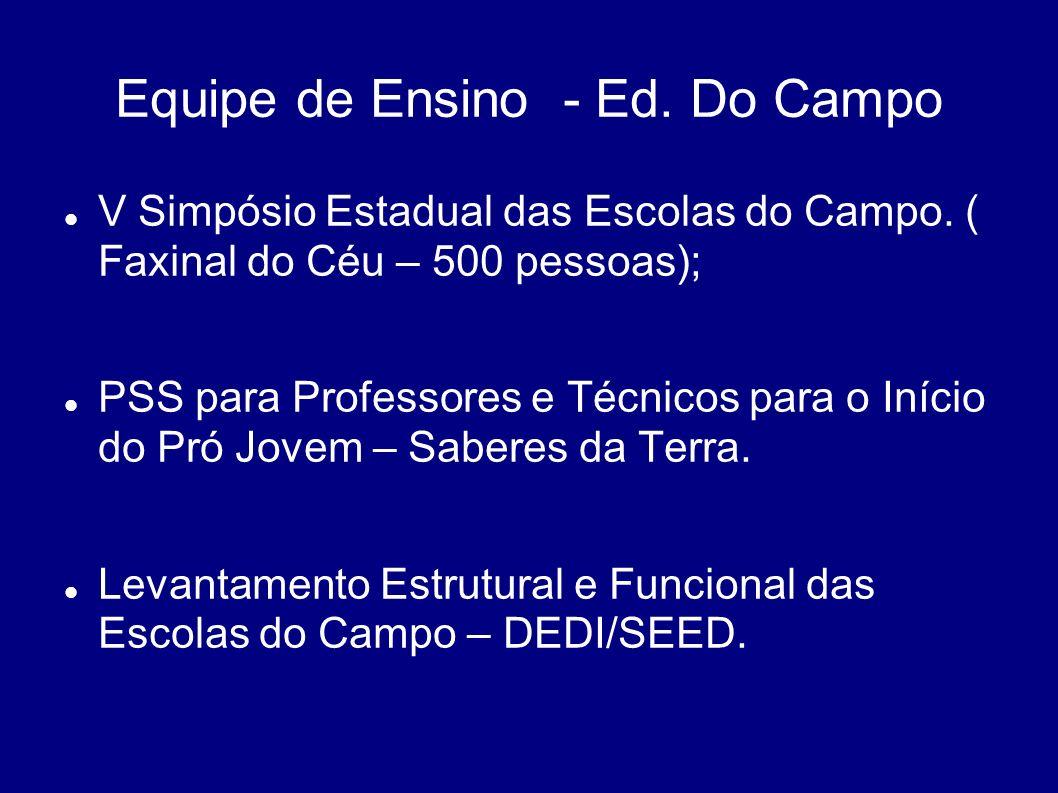 Equipe de Ensino - Ed. Do Campo