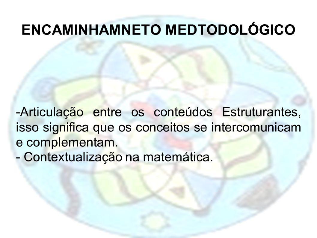 ENCAMINHAMNETO MEDTODOLÓGICO