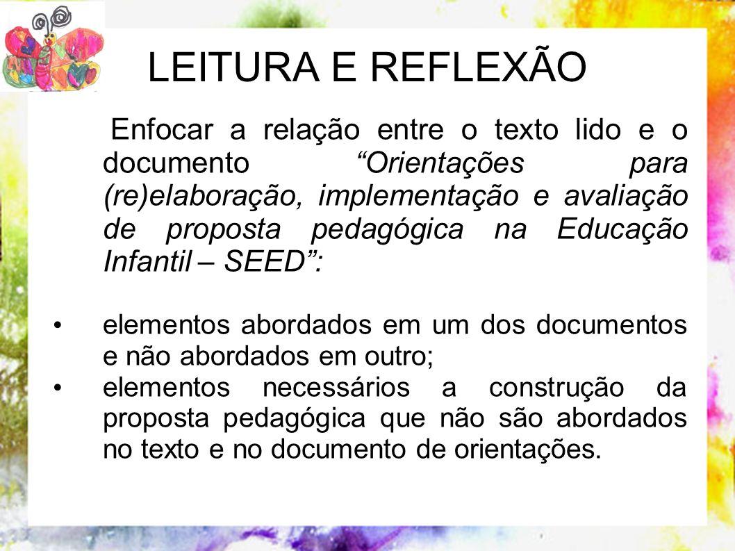 LEITURA E REFLEXÃO