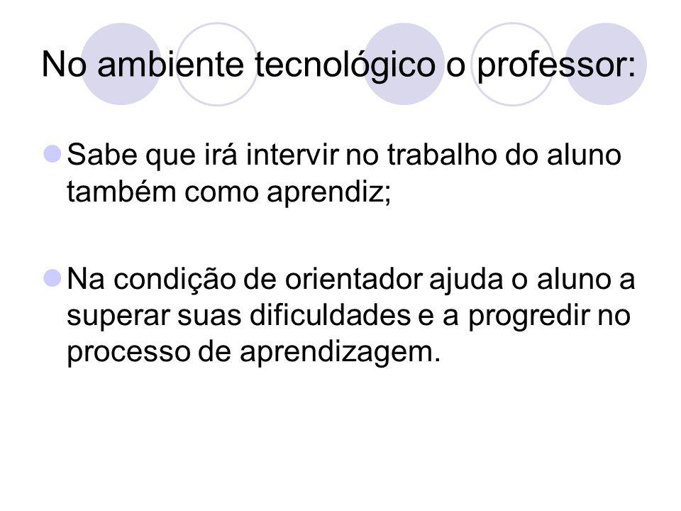 No ambiente tecnológico o professor: