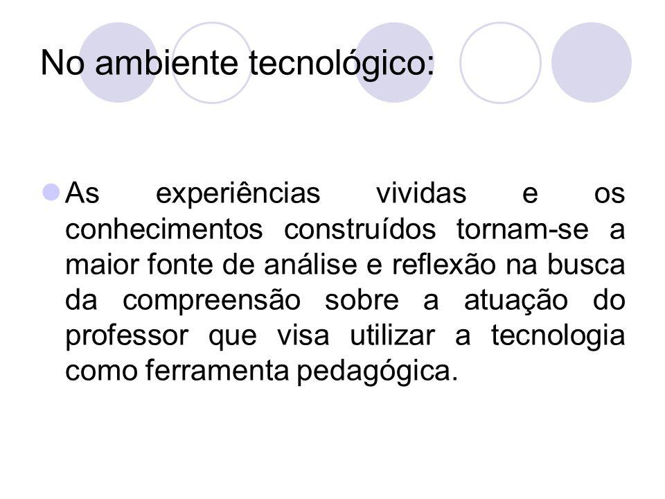 No ambiente tecnológico: